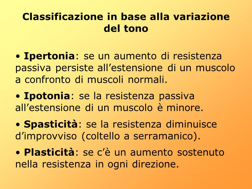 Classificazione in base alla variazione del tono