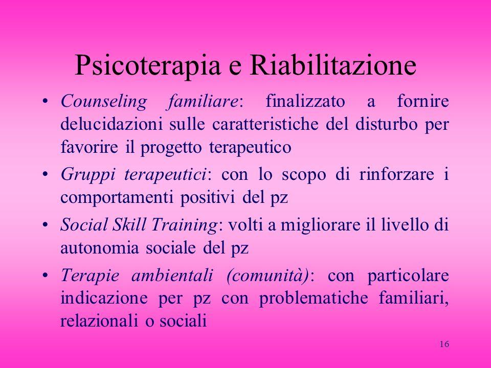 Psicoterapia e Riabilitazione