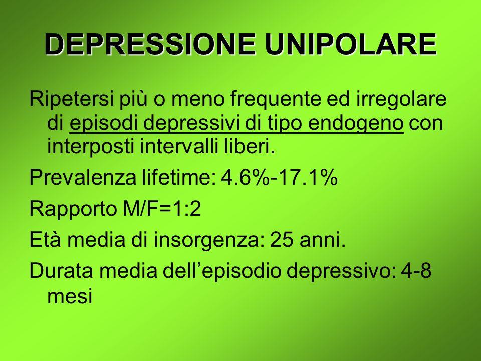 DEPRESSIONE UNIPOLARE