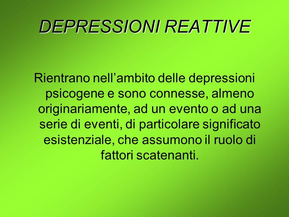 DEPRESSIONI REATTIVE