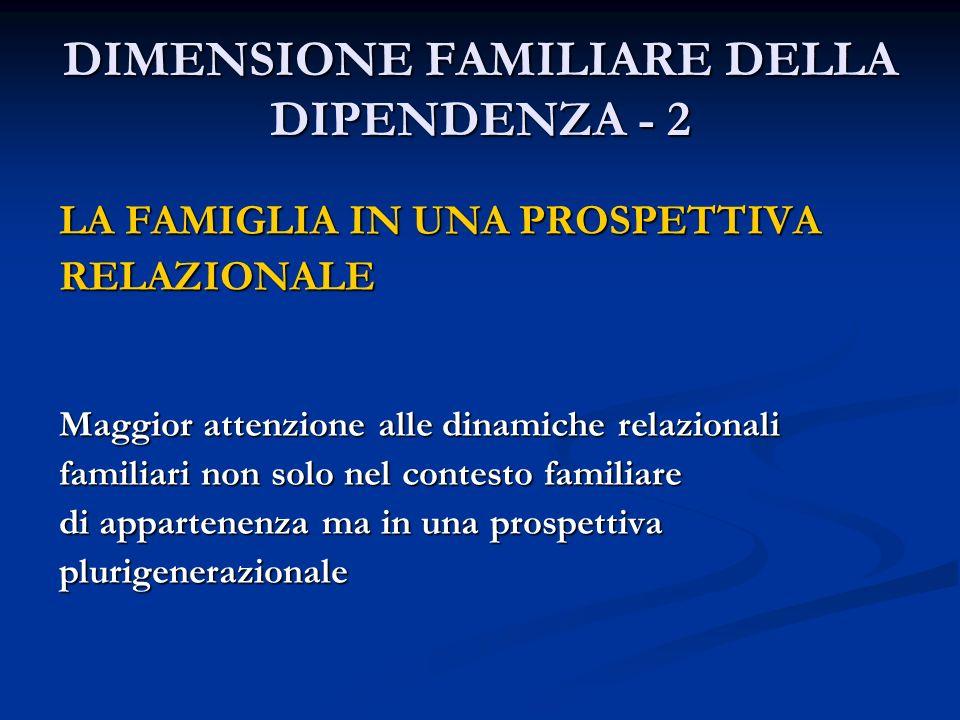 DIMENSIONE FAMILIARE DELLA DIPENDENZA - 2