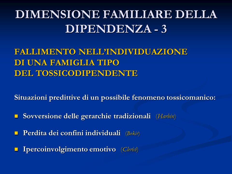 DIMENSIONE FAMILIARE DELLA DIPENDENZA - 3