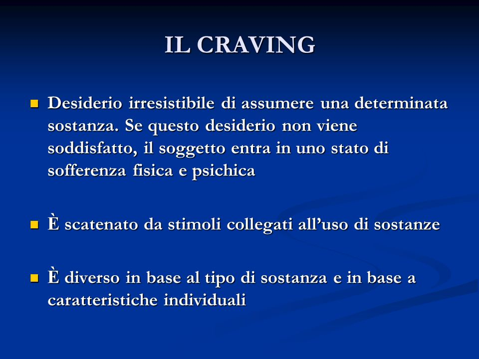 IL CRAVING