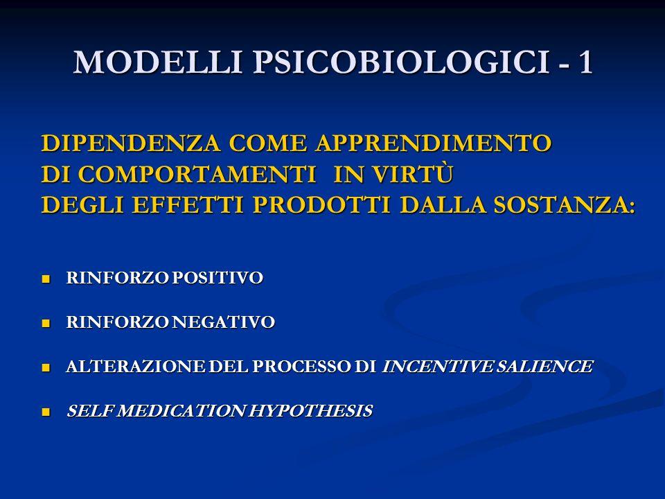 MODELLI PSICOBIOLOGICI - 1
