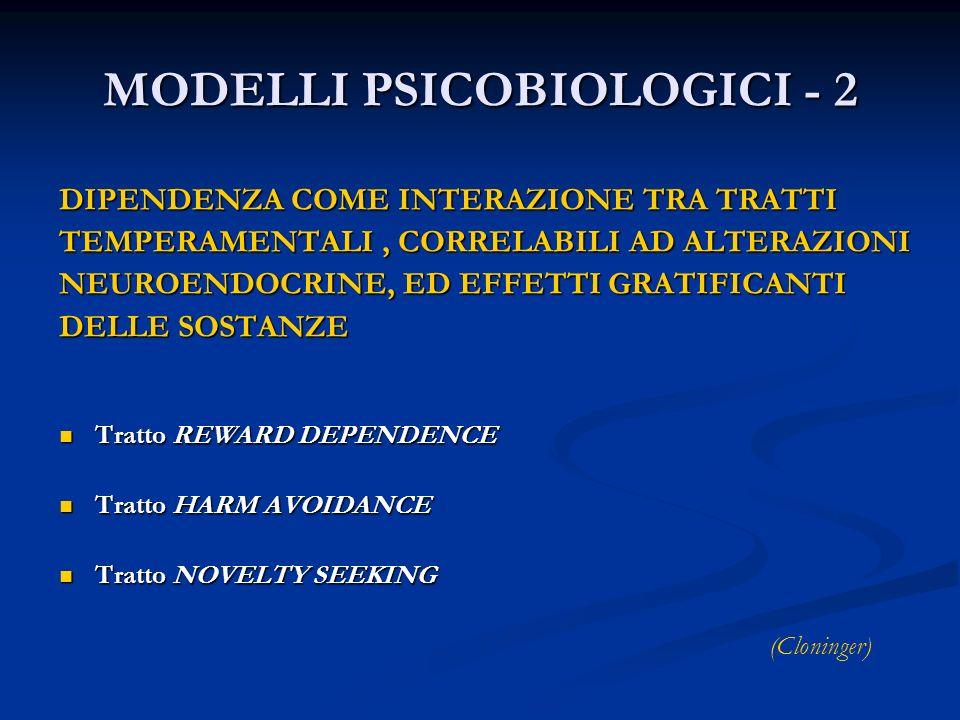 MODELLI PSICOBIOLOGICI - 2