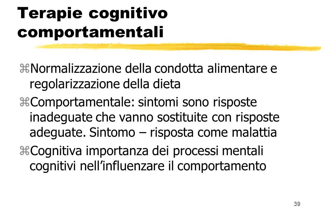 Terapie cognitivo comportamentali