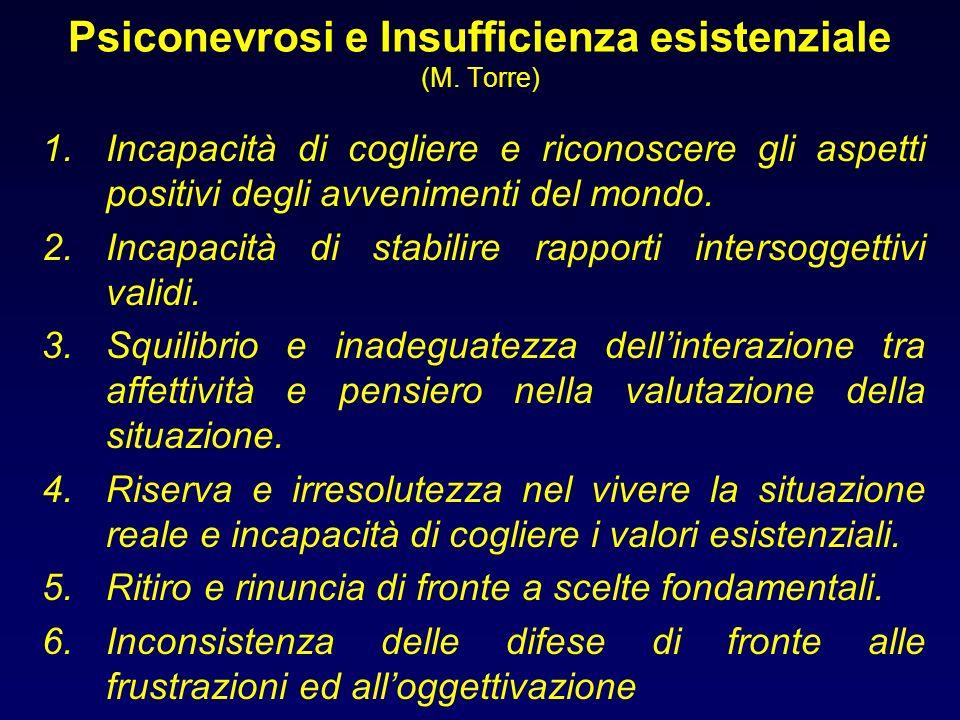 Psiconevrosi e Insufficienza esistenziale (M. Torre)