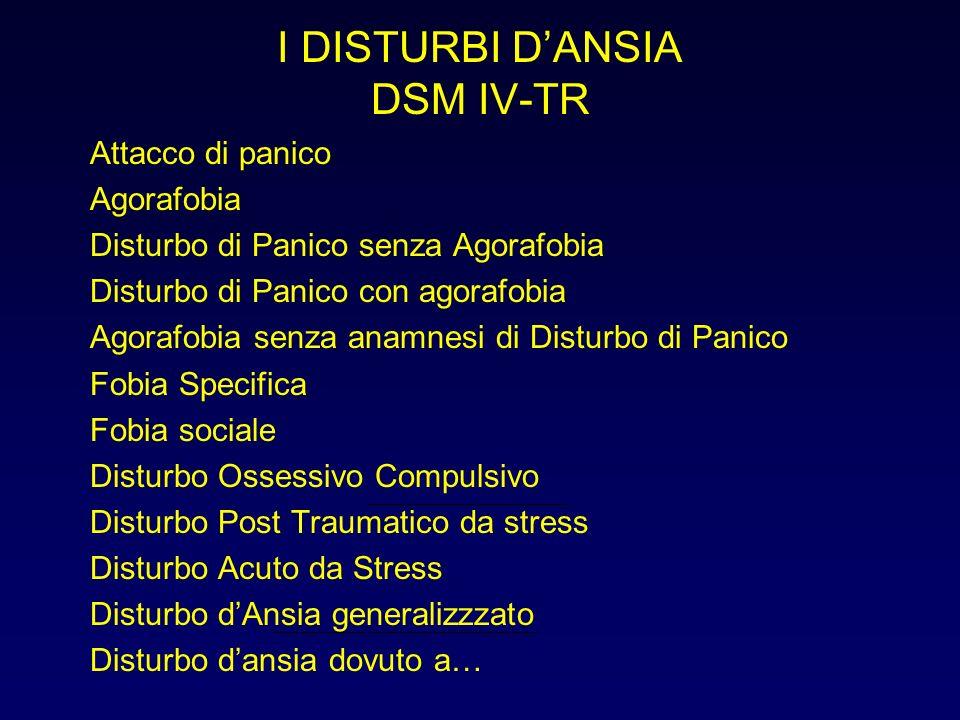 I DISTURBI D'ANSIA DSM IV-TR