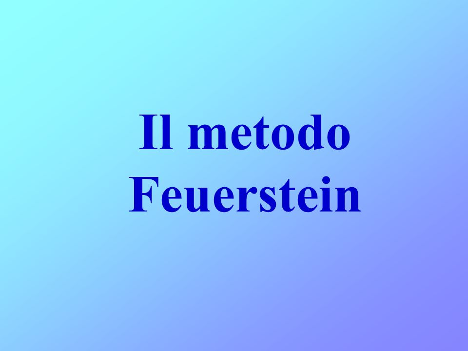 Il metodo Feuerstein