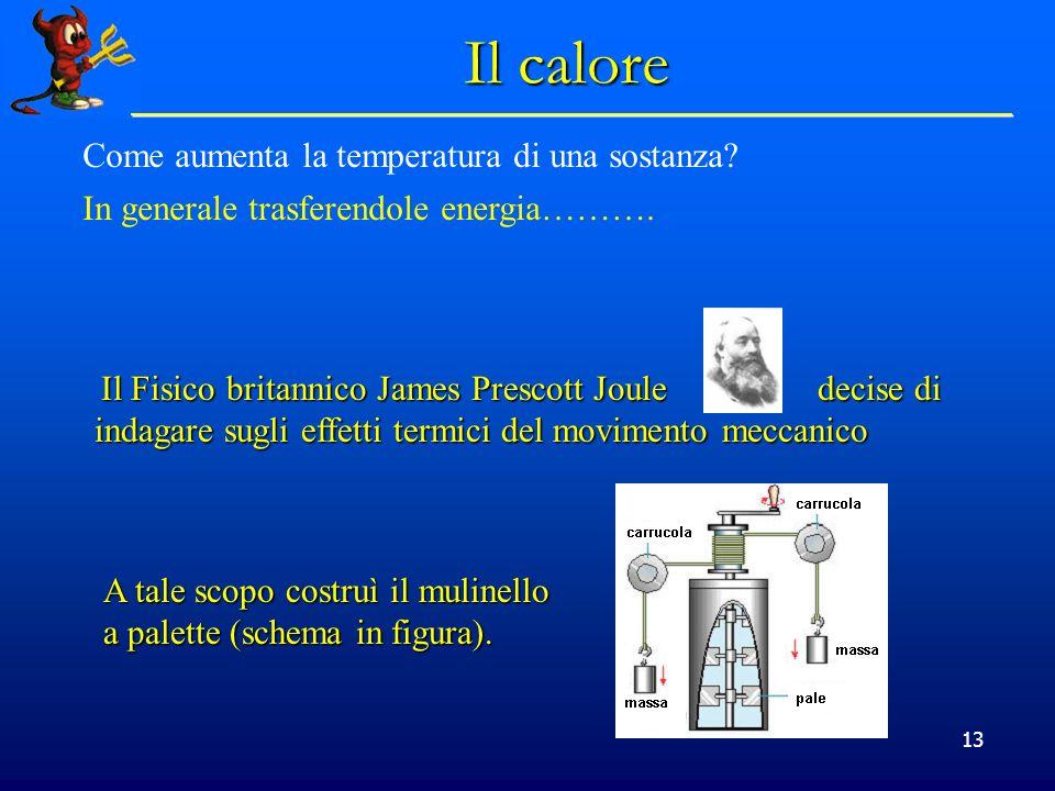 Il calore Come aumenta la temperatura di una sostanza