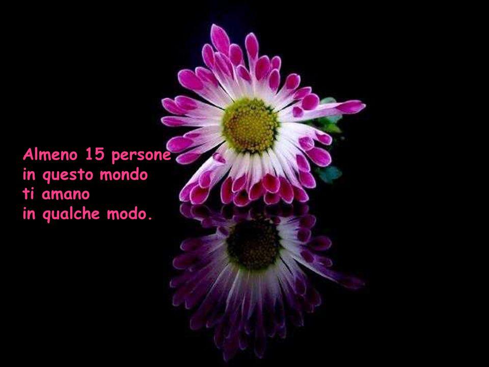 Almeno 15 persone in questo mondo ti amano in qualche modo. 3