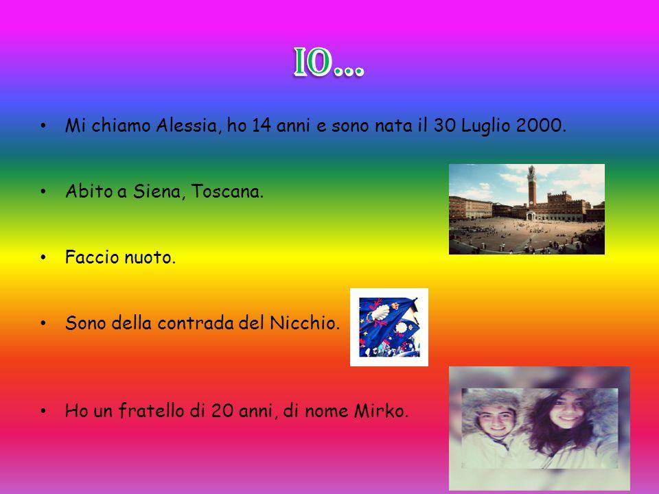 IO… Mi chiamo Alessia, ho 14 anni e sono nata il 30 Luglio 2000.