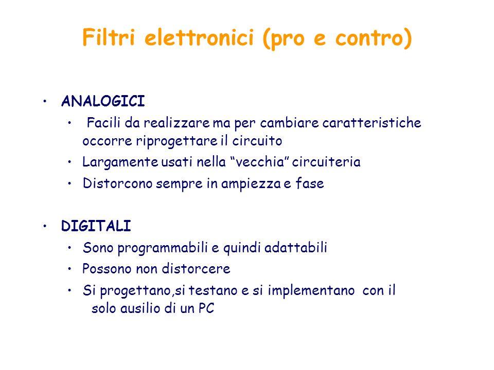 Filtri elettronici (pro e contro)