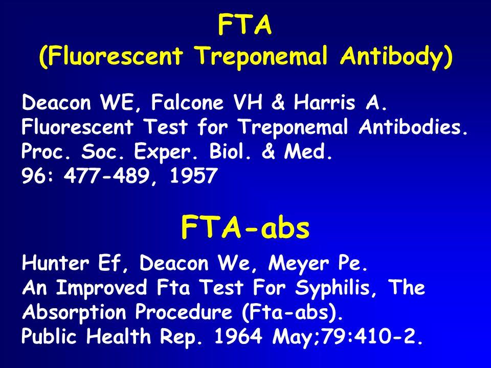 FTA (Fluorescent Treponemal Antibody)