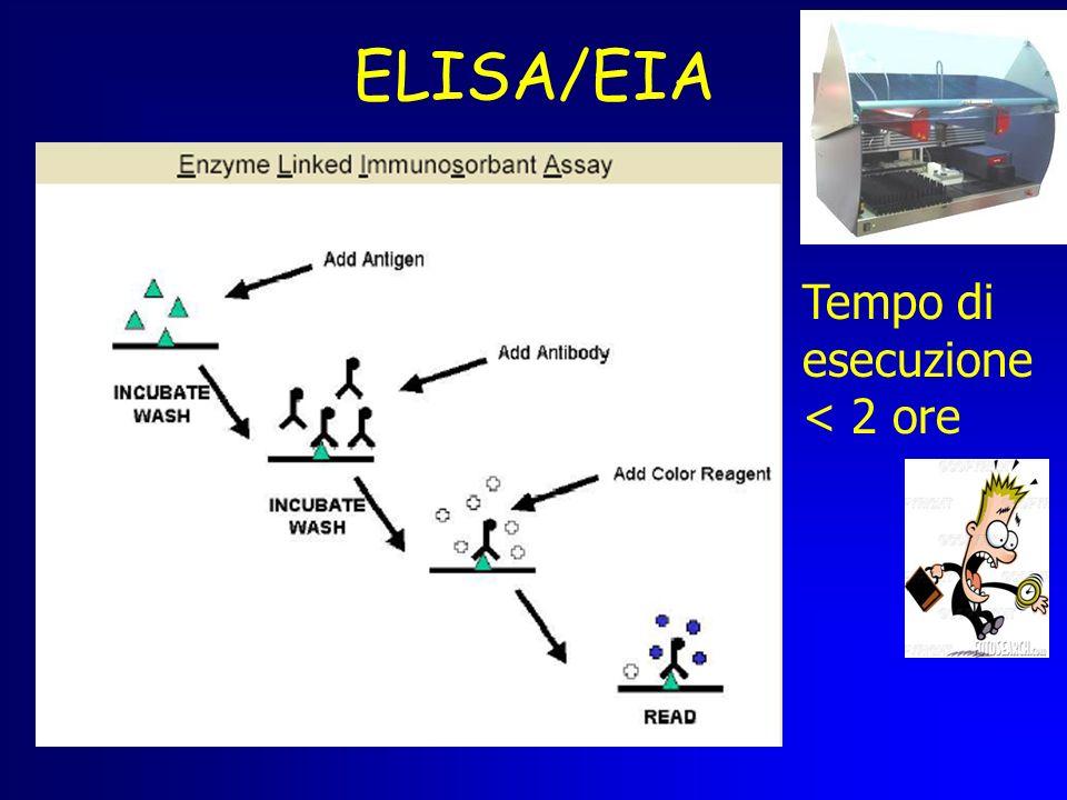 ELISA/EIA Tempo di esecuzione < 2 ore