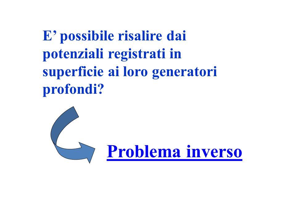 E' possibile risalire dai potenziali registrati in superficie ai loro generatori profondi