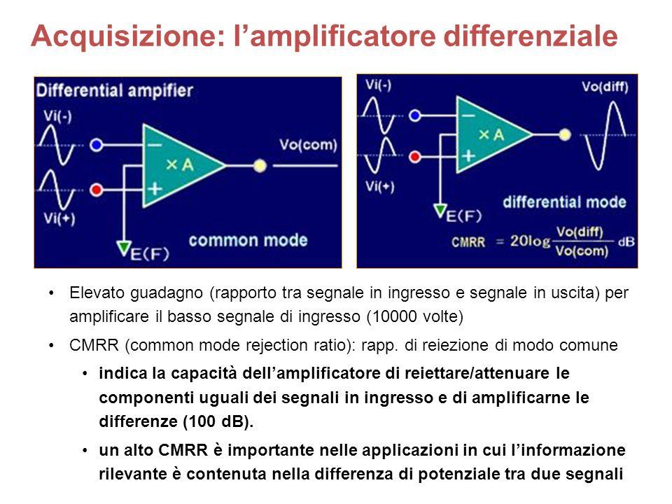 Acquisizione: l'amplificatore differenziale
