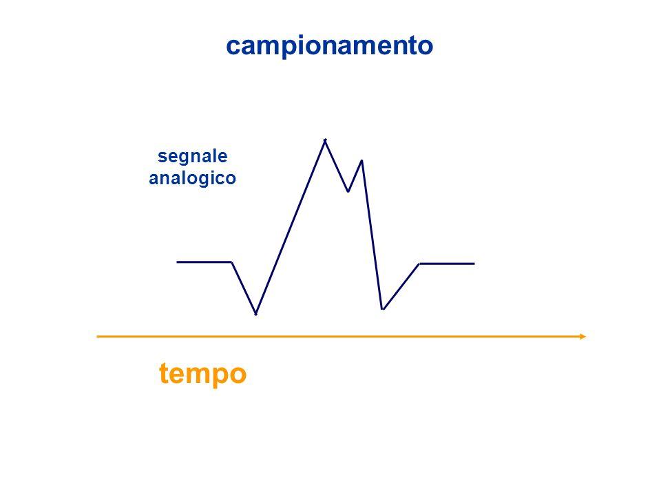 campionamento segnale analogico tempo