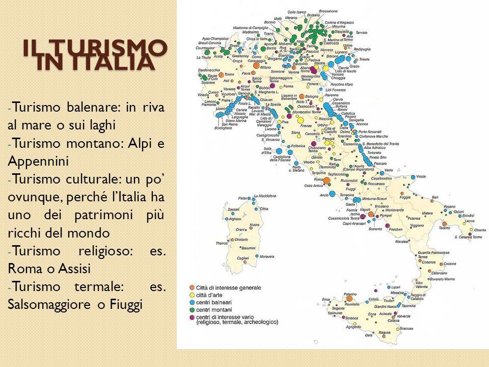 IL TURISMO IN ITALIA Turismo balenare: in riva al mare o sui laghi