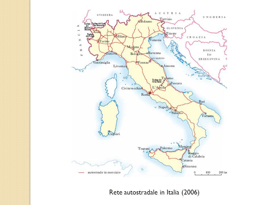 Rete autostradale in Italia (2006)