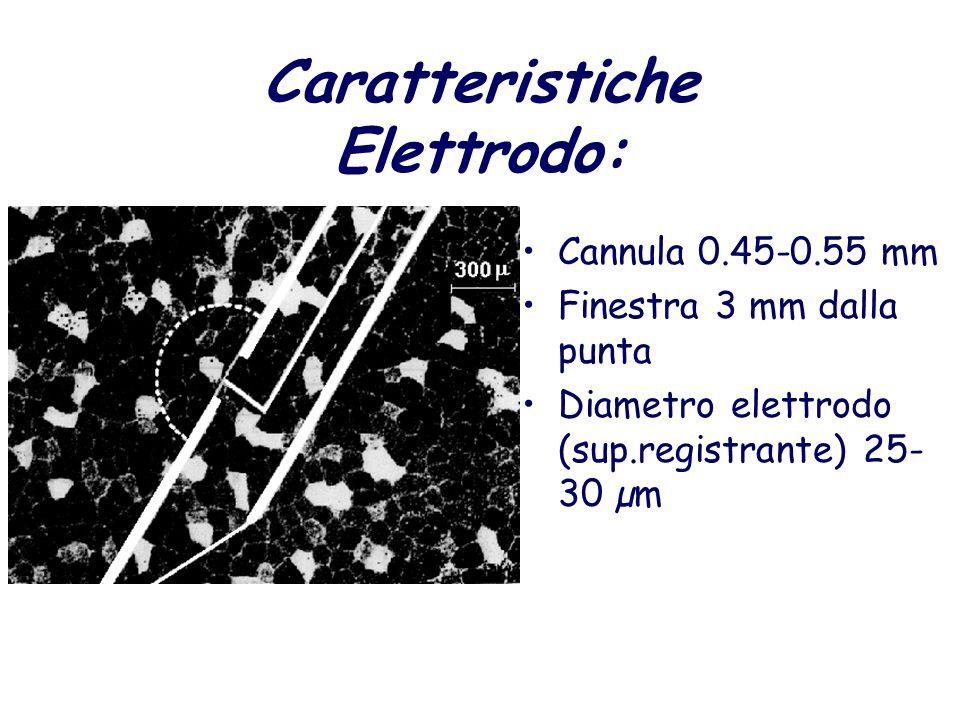 Caratteristiche Elettrodo: