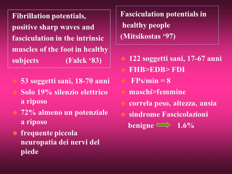 Fasciculation potentials in