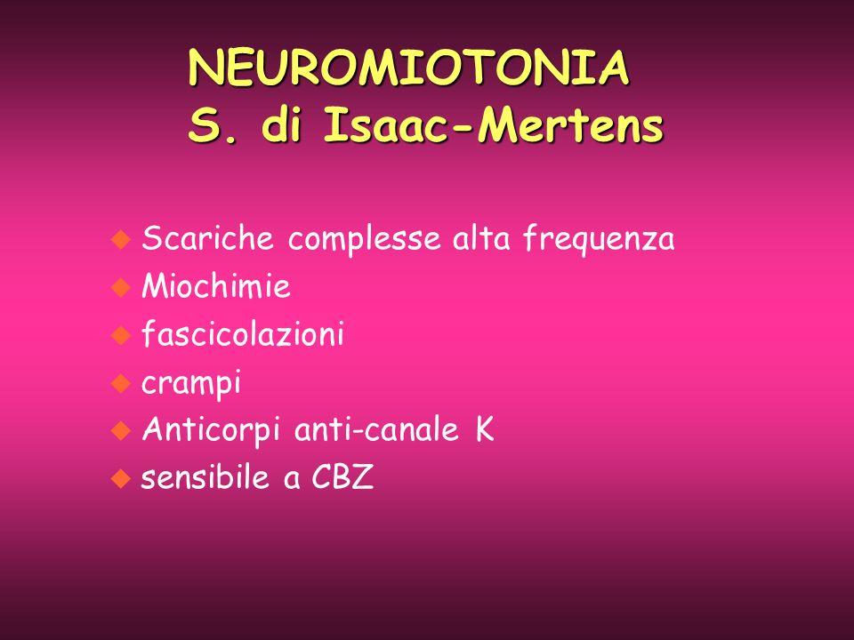 NEUROMIOTONIA S. di Isaac-Mertens