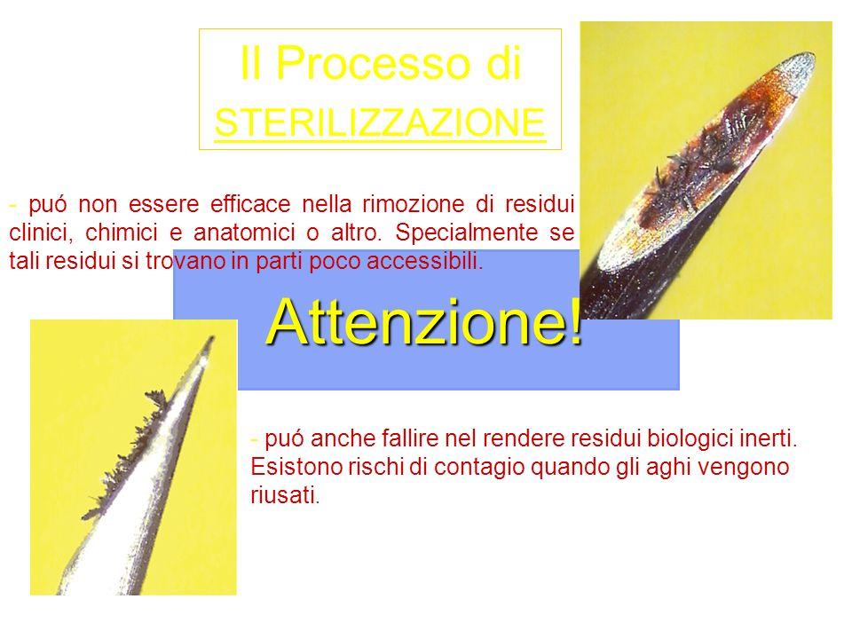 Attenzione! Il Processo di STERILIZZAZIONE