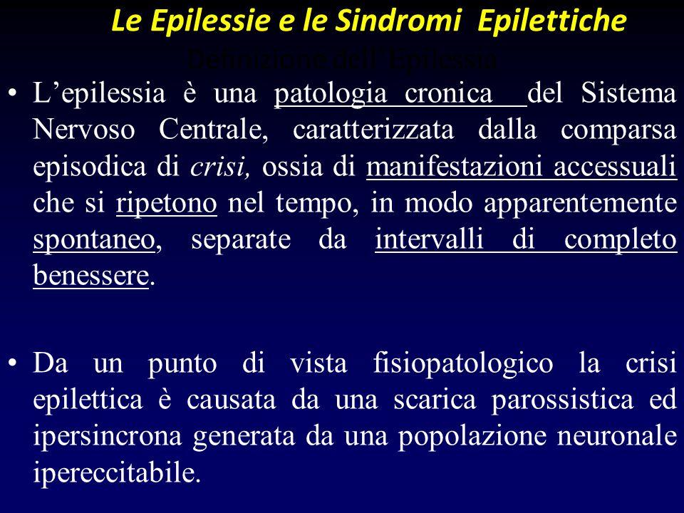 Le Epilessie e le Sindromi Epilettiche Definizione dell'Epilessia