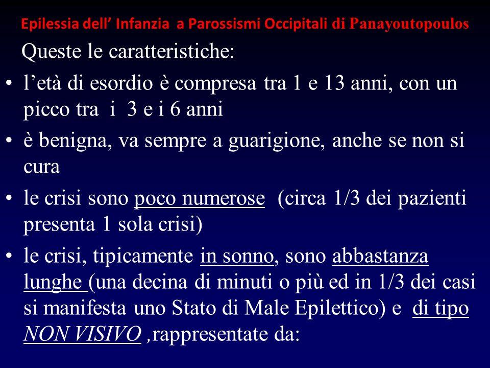 Epilessia dell' Infanzia a Parossismi Occipitali di Panayoutopoulos