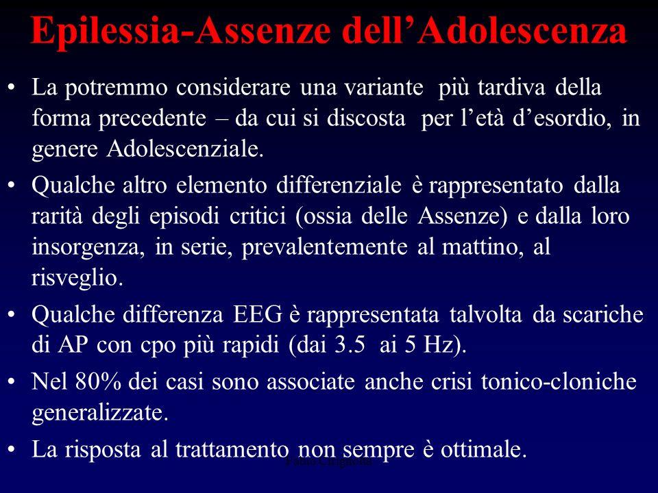 Epilessia-Assenze dell'Adolescenza