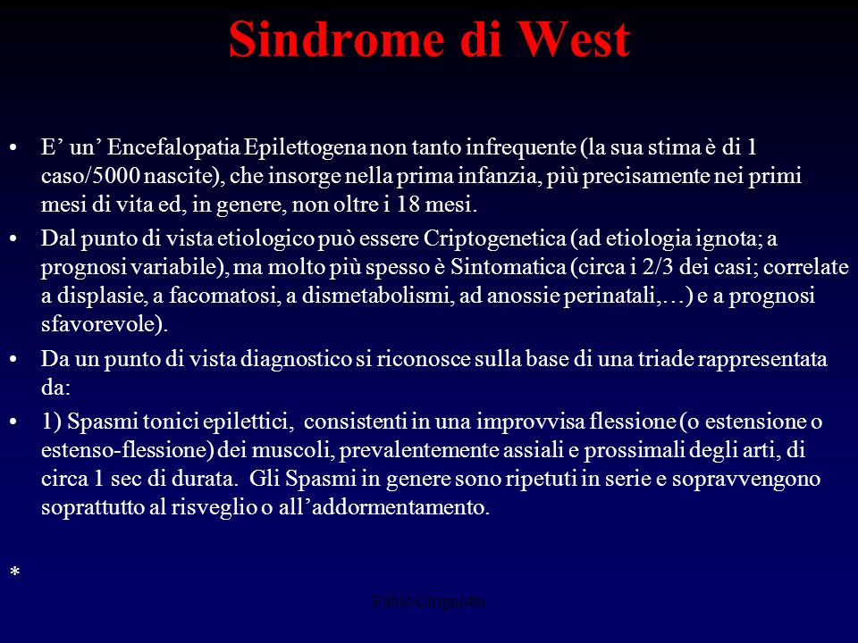 Sindrome di West