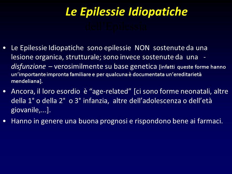 Le Epilessie Idiopatiche dell'Epilessia