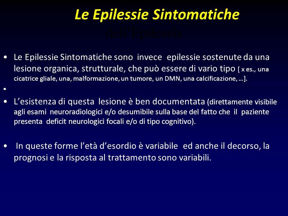 Le Epilessie Sintomatiche dell'Epilessia