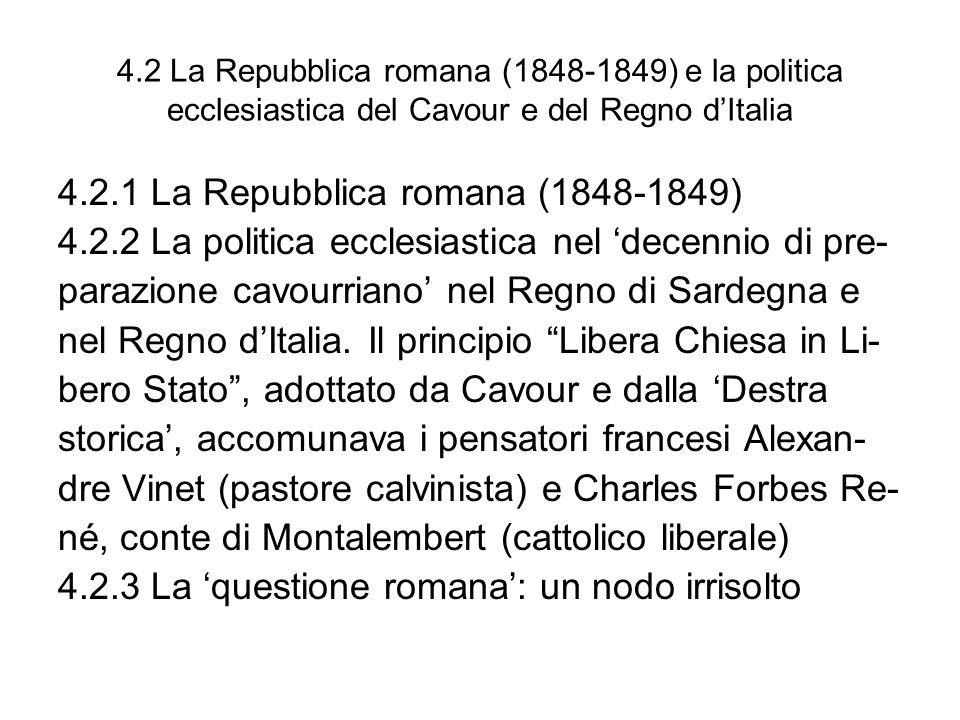 4.2.1 La Repubblica romana (1848-1849)