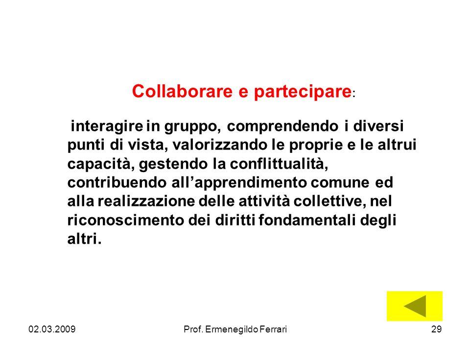 Collaborare e partecipare: