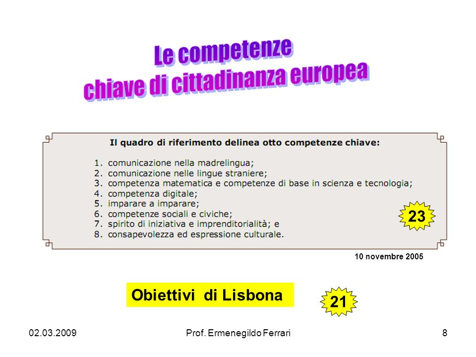 chiave di cittadinanza europea