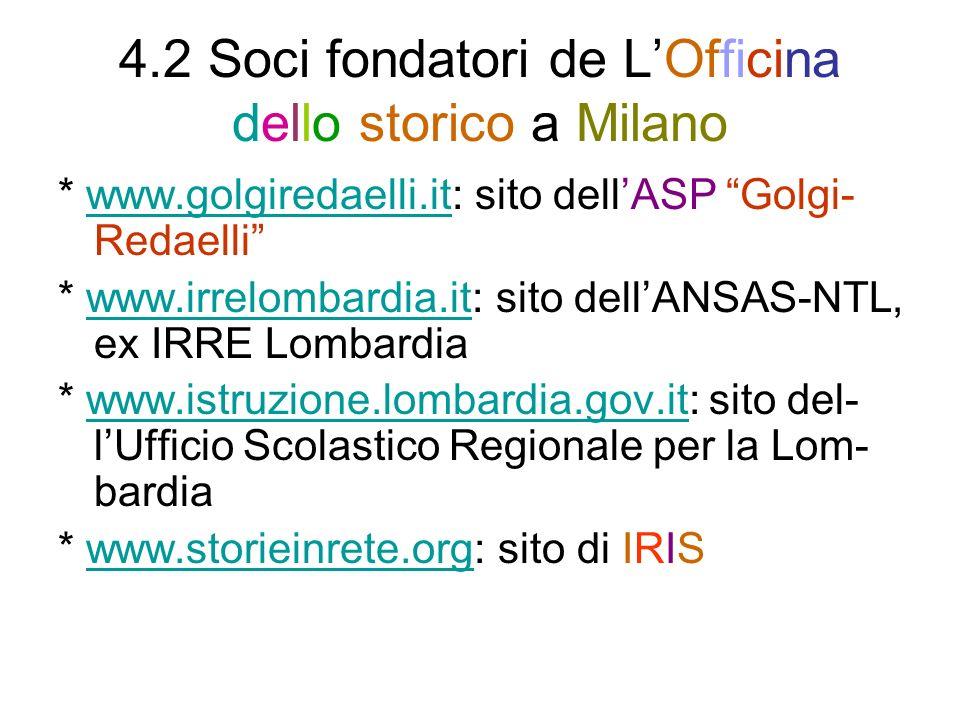 4.2 Soci fondatori de L'Officina dello storico a Milano