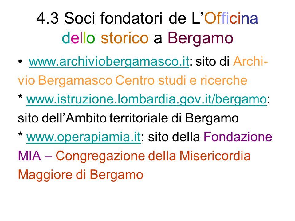 4.3 Soci fondatori de L'Officina dello storico a Bergamo