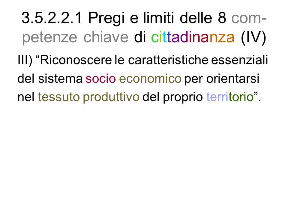 3.5.2.2.1 Pregi e limiti delle 8 com-petenze chiave di cittadinanza (IV)