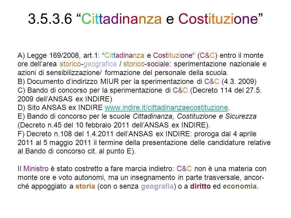 3.5.3.6 Cittadinanza e Costituzione