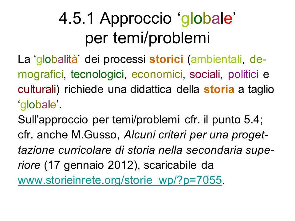 4.5.1 Approccio 'globale' per temi/problemi