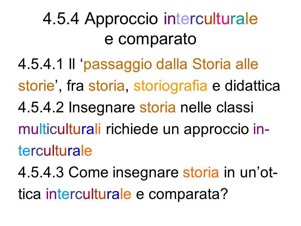 4.5.4 Approccio interculturale e comparato