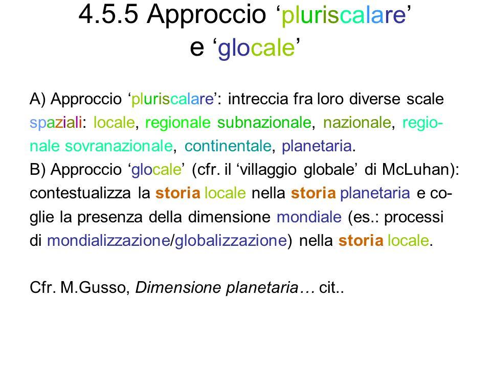 4.5.5 Approccio 'pluriscalare' e 'glocale'