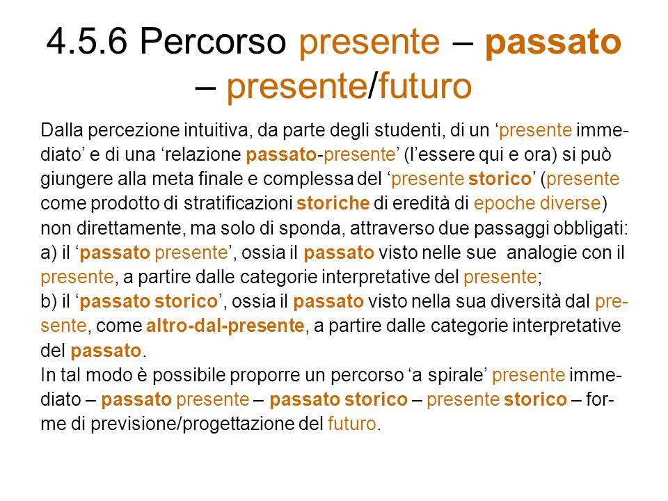 4.5.6 Percorso presente – passato – presente/futuro