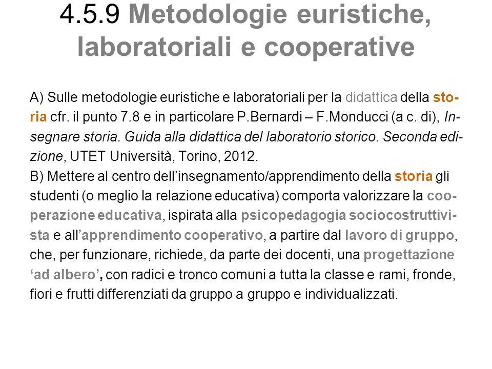 4.5.9 Metodologie euristiche, laboratoriali e cooperative