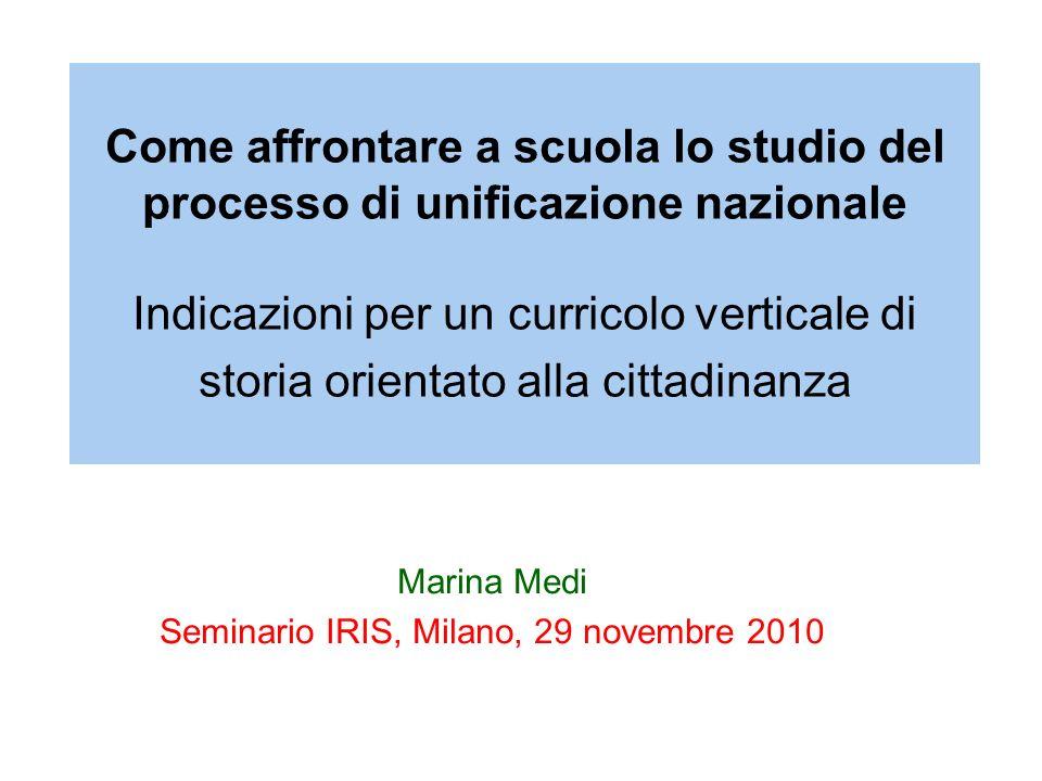 Marina Medi Seminario IRIS, Milano, 29 novembre 2010