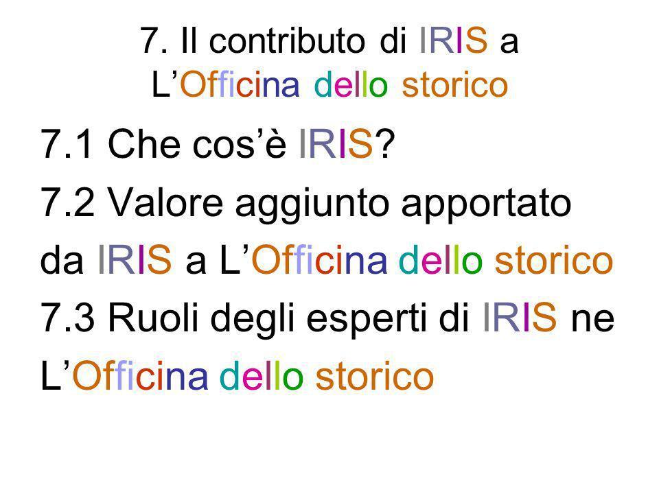 7. Il contributo di IRIS a L'Officina dello storico