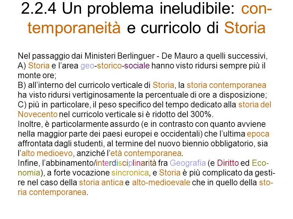 2.2.4 Un problema ineludibile: con-temporaneità e curricolo di Storia