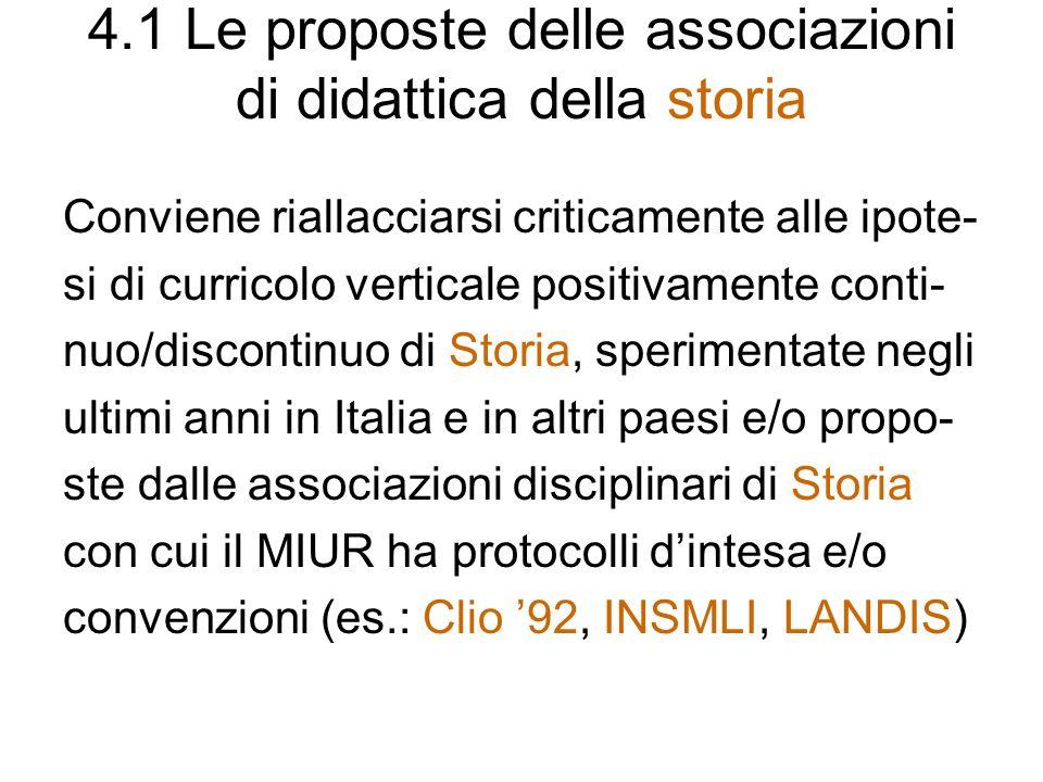 4.1 Le proposte delle associazioni di didattica della storia